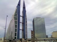 The World Trade Center in Bahrain Financial Harbour.